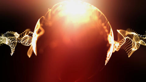 Swirling orb of light Stock Video Footage