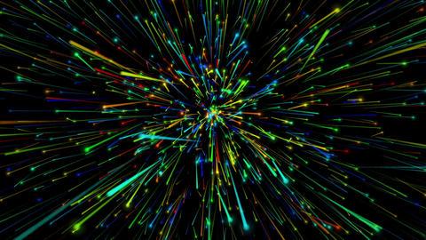 Particle diffusion CG動画