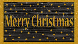 Decorative multicolor video with text Merry Christmas Animation
