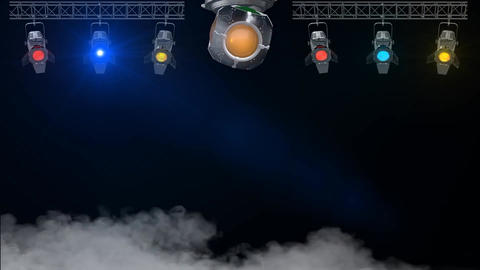 3D Nightclub Rotating Lights looped, Stock Animation