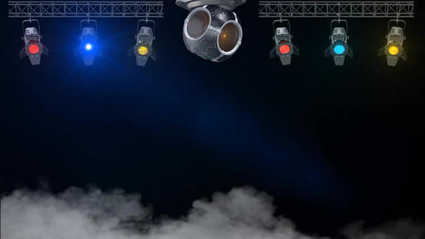3D Nightclub Rotating Lights looped Animation