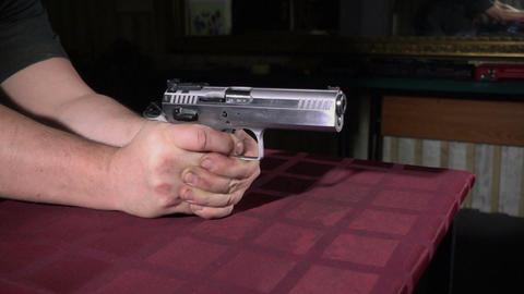 Shooting handgun Footage