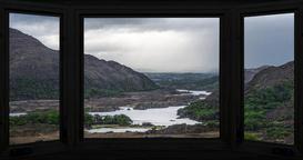 View through an Irish window in 4k Footage