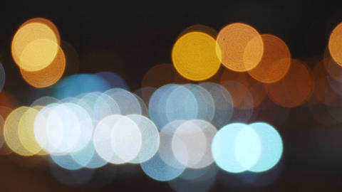 Abstract background with colorful bokeh lights ビデオ