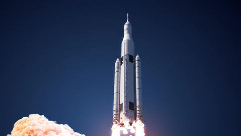 Space Launch System Takes Off Animation