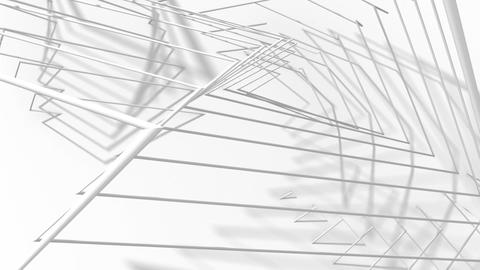 Abstract Animated Background From White Wire. Seamless Looping Animation