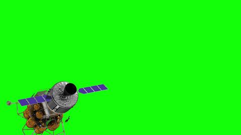 Flight Of The Crew Exploration Vehicle On Green Screen Animation