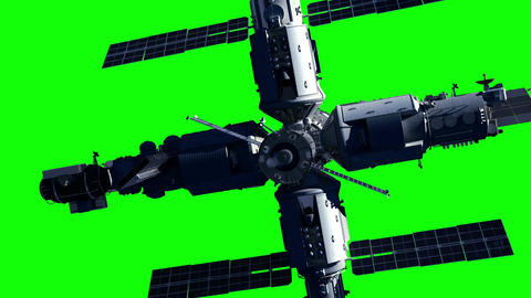 Space Station On Green Screen Animation