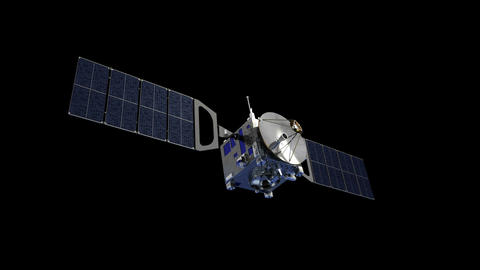 Communication Satellite With Alpha Matte GIF
