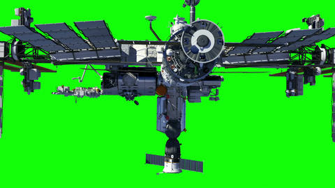 International Space Station. Green Screen Animation