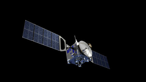 Satellite Deploys Solar Panels With Alpha Matte Animation