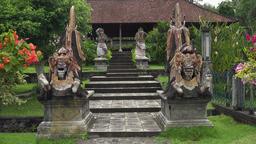 Hindu temple Tirta Gangga on Bali. Hindu temple Footage