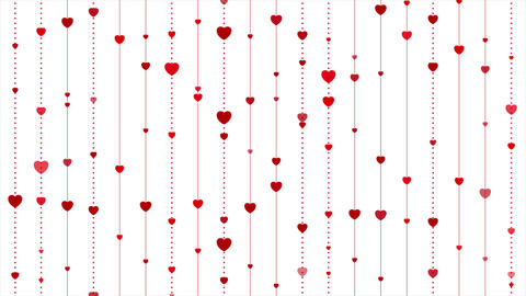 Red hearts abstract St Valentines Day video animation Animation