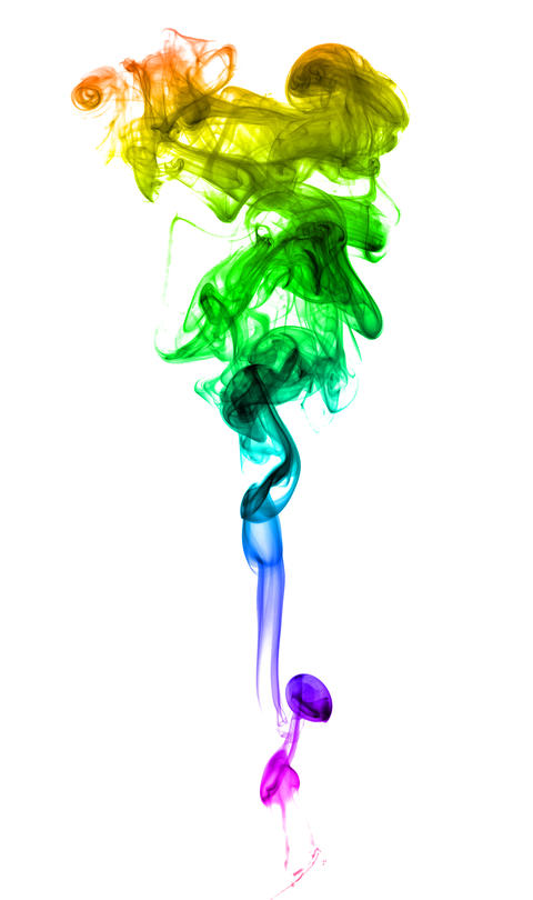 Abstract multicolored smoke フォト