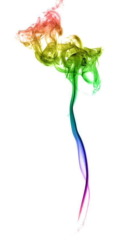 Abstract multicolored smoke Foto