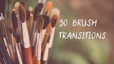 30 Brush Transitions Premiere Pro Template