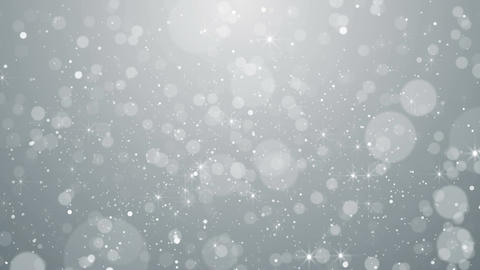 White particles business clean bright glitter bokeh dust abstract background Image