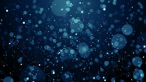 Blue particles dust abstract light motion titles cinematic background loop Animation