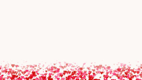 Seamless loop background with pink and red colored confetti hearts for valentine Footage