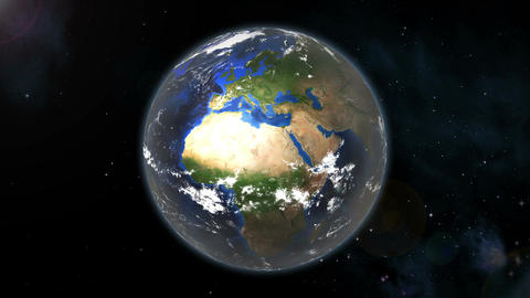 Earth Spin (loop) Animation