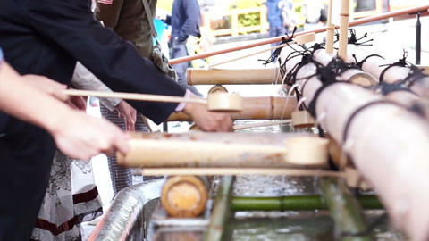 Closeup video of hands of people scooping water into... 動画素材, ムービー映像素材