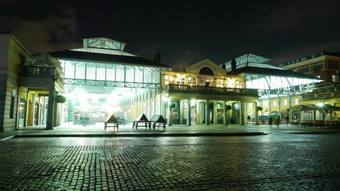 London Coevent Garden by night - time lapse Live Action