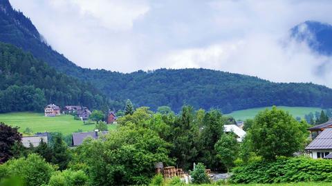 Border of Austria Switzerland alps mountain landscape view Footage
