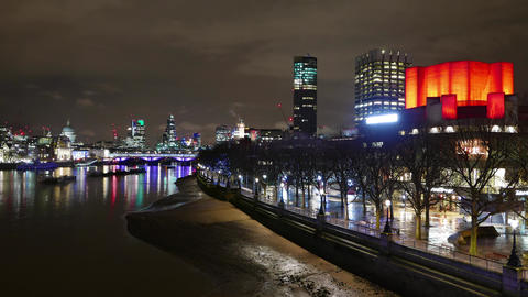 Colorful London by night - time lapse Live Action