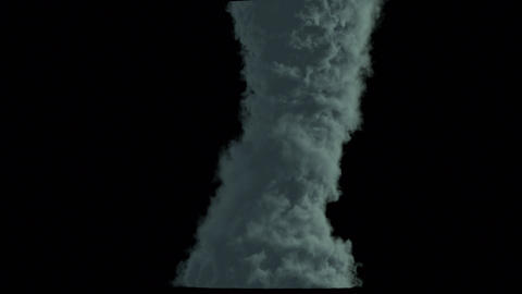 A birth of tornado isolated on black background with alpha Animation