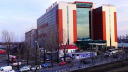 BUCHAREST, ROMANIA - February,10 2016: Traffic Over Vitan-Barzesti Avenue,view O stock footage