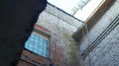 The Old Courtyardold weathered old weathered walls,fallen plaster,bricks,slider Live Action