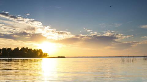 Time Lapse,sunset,Rybinsk,1080p Footage
