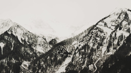 The Tops Of The Caucasus Mountains Covered With Snow stock footage