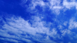 White clouds running over blue sky Footage