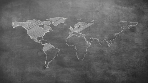 Grey shape of world map Animation