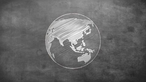 Rotating globe Animación