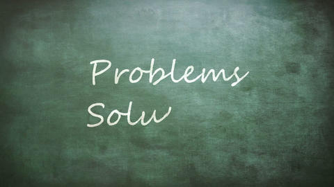 Problems and Solutions words on board Footage