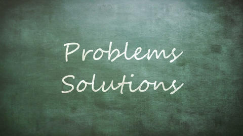 Problems and Solutions words on board, Live Action
