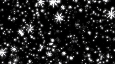 White SnowFlakes Loop Motion Graphic Background Backdrop Animation