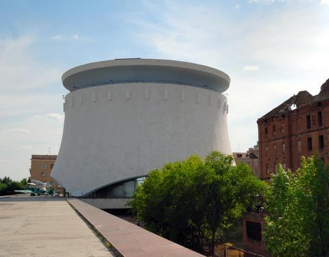 Museum - panorama Stalingrad fight. Volgograd. Russia フォト