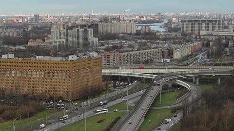 skyline of St. Petersburg time lapse Footage