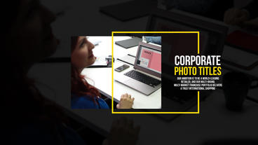 Corporate Photo Titles Premiere Pro Template