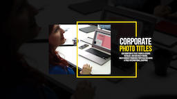 Corporate Photo Titles Premiere Pro Template