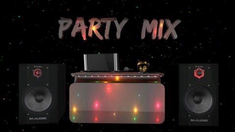 3D DJ Party Mix looped Animation