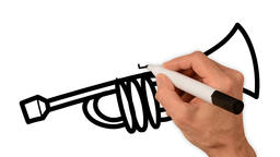 Whiteboard Animation - Brass instruments Animation