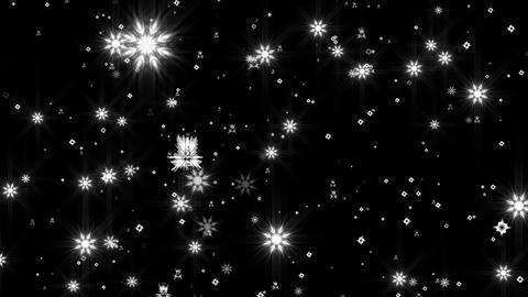 White Glow Snowflakes Animation
