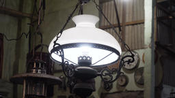 Antique lamp with shade Footage