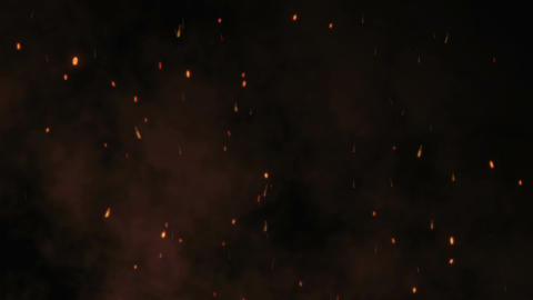 Flying Sparks and Smoke Animation