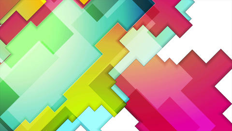 Colorful abstract geometry background motion design Animation