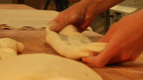 Rolling bread dough Footage